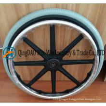20X 1 3/8 Non-Inflation Polyurethane Foam Rear Wheel for Wheelchair