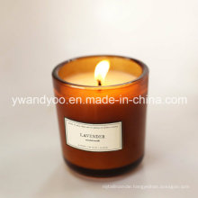 2015 Popular Scented Soy Wax Candle in Glass Jar