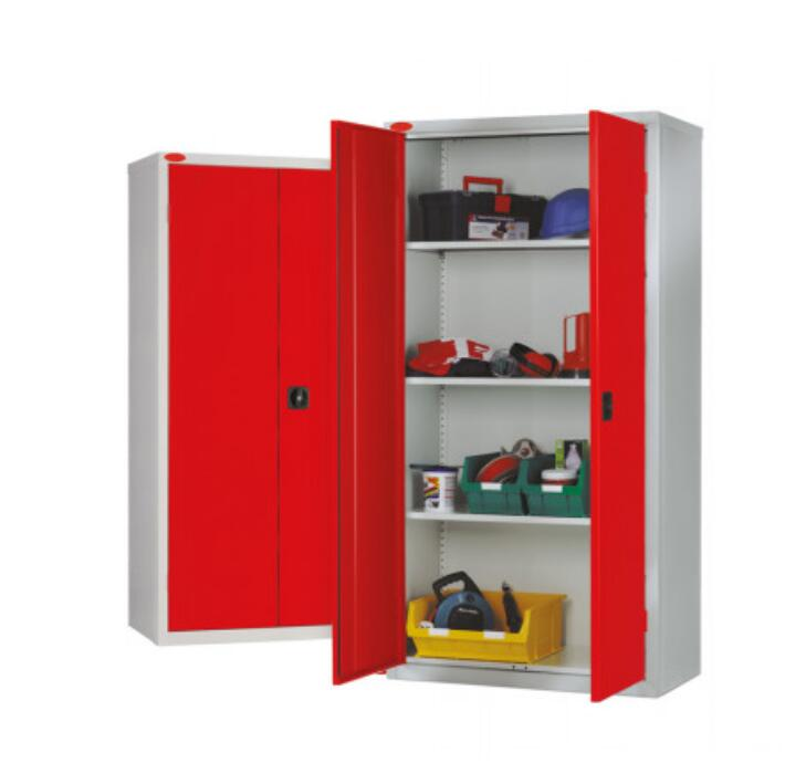 tool cupboard in red