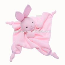 L'ours en peluche de peluche de bébé de vente chaude promotionnelle joue le jouet de couverture molle pour le bébé