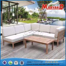 Muebles de madera Sofá de teca Sofá de madera