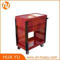 Deux tiroirs coulissants en acier rouge panneaux supérieure outil armoire coffre à outils dans le Garage et usine
