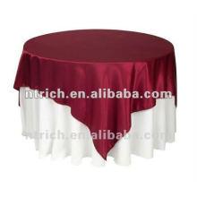 Paño de tabla de la boda de poliéster y recubrimiento satinado