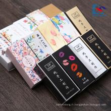 boîte d'emballage de rouge à lèvres imprimé à la main fait sur commande de logo de vente chaude