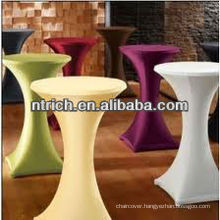 Charming lycra/spandex cocktail bar table cloth/cover