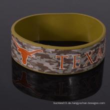 Beliebte benutzerdefinierte Tarnung Silikon Wristband für Armee