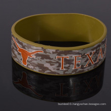 Popular custom camouflage silicone wristband for army