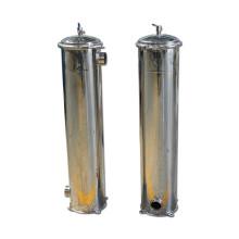 Alojamento de filtro de aço inoxidável do cartucho da água do mícron para o alimento industrial