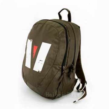 Canvas and Polyester 210d Backpack (hbba-19)