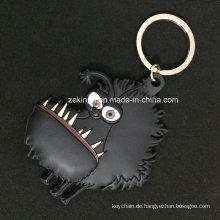 Karikatur-Tier 3D PVC Keychain für Andenken- / fördernde Geschenke