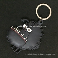 Cartoon Animal 3D PVC Keychain for Souvenir / Promotional Gifts