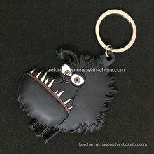 PVC Keychain do animal 3D dos desenhos animados para a lembrança / presentes relativos à promoção