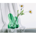 Vaso verde criativo acrílico para decoração de casa