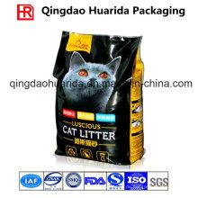 Quad Seal Side Gusset Kunststoff Verpackung Tasche für Katzenstreu