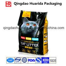 Quad Seal Side Gusset Plastic Packaging Bag for Cat Litter
