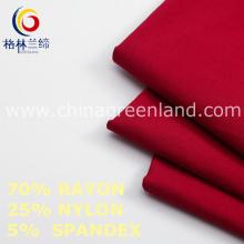 Twill Rayon Nylon Spandex tecido para vestuário calças (GLLML459)