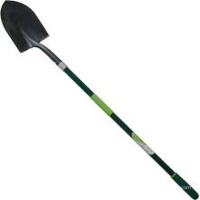 Herramientas de jardín forjado acero afilada espada redondo pala con mango de fibra de vidrio