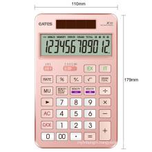 New Design 12 Digits Laser Engraving OEM LOGO Aluminum Calculator Gift Calculator