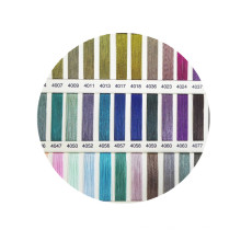 J type Fashion mix colors Click to view the color card blended polyester 23% metallic yarn