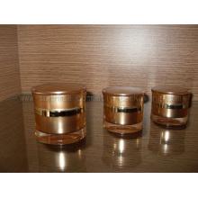 Frasco de 15ml 30ml 50ml ouro radiano forma creme frasco de creme