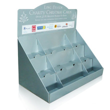 9 Cells Countertop Display for Christmas Cards