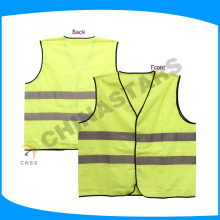 two horizontal tape all around reflective safety vest with black piping