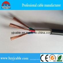 3 * 0.75mm2 Горячий продавая Rvv PVC изолировал и двойной обшитый гибкий кабель