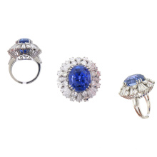 Hot Selling 925 Silver Fashion Ring Jewelry with Gemstone