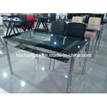 Mesa de jantar de novo vidro Metal moderno (CX-D-285)