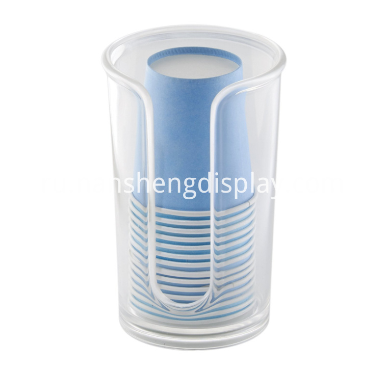 Acrylic Disposable Paper Cup Dispenser