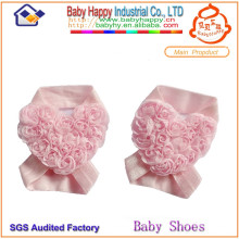 New arrival heart-shaped flower baby shoes ornament