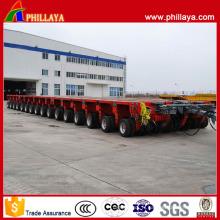 16 rangées 32 essieux oscillants hydrauliques remorque modulaire 400 tonnes