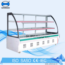 vitrine réfrigérée en acier inoxydable