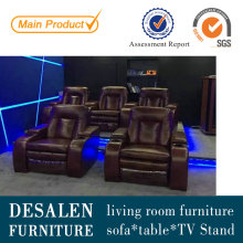 Home Theater Leather Recliner Sofa (G038)
