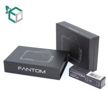 Caja de teléfono de cartón estampado de plata negra industrial personalizada