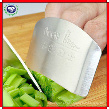 Dedo de acero inoxidable Protector de mano Protector de dedo Chop Safe Slice Knife Kitchen Tool Finger Guard