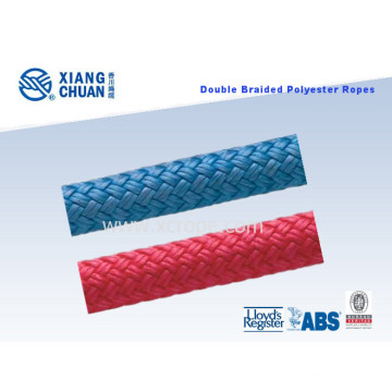 Corde de polyester tressée double