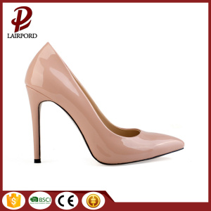 Nude colour stiletto heel women sexy shoes