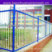 Double beam type bounding wall wrought iron fence