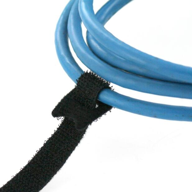 adhesive hook loop cable tie