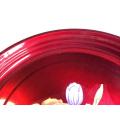 grande de aço inoxidável do metal 20inch relativo à promoção vermelho que serve o plater