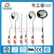 Traje de tenedor de cuchara de acero inoxidable portátil, cuchara decorativa y tenedor