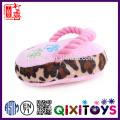 Vente chaude interactive chew coton corde en peluche pantoufles pour animaux de compagnie chien jouets