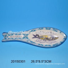 High quality ceramic spoon holder with fish design