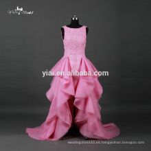 RQ067 Sweetheart Organza con gradas de falda baratos Alibaba Pink Wedding Dresses Made In China