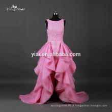 RQ067 Sweetheart Organza Tiered saia barato Alibaba rosa vestidos de casamento feitos na China