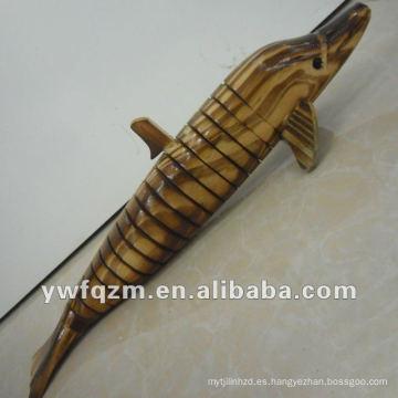 artesanía en madera para pequeños animales para decoración del hogar visual delphinids