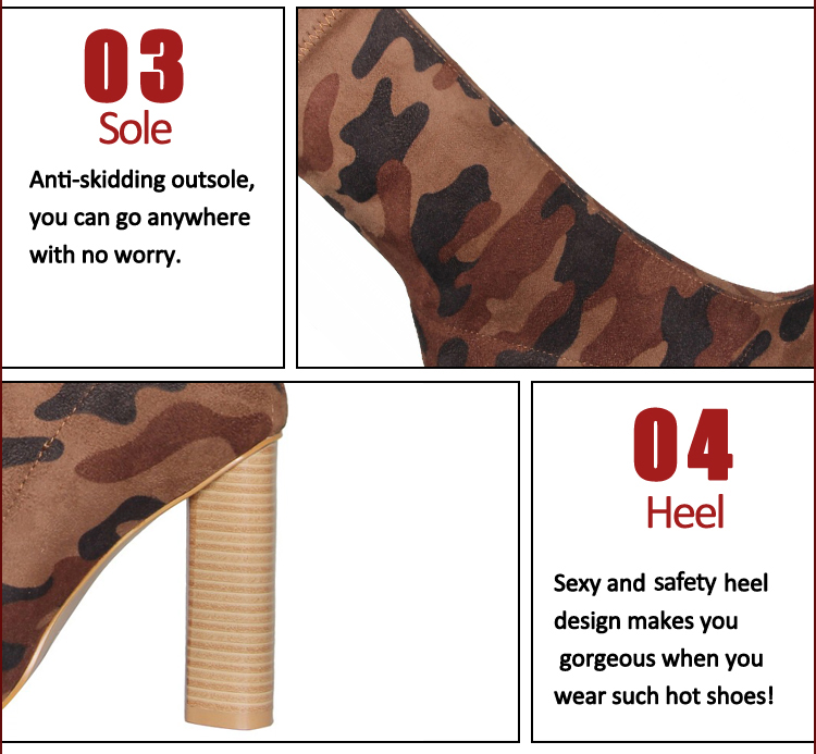camouflage ladies boots