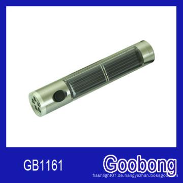 5 LEDs Aluminium Solar Taschenlampe