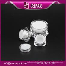 Récipient cosmétique en plastique haute qualité SRS, bocal pour soins de la peau